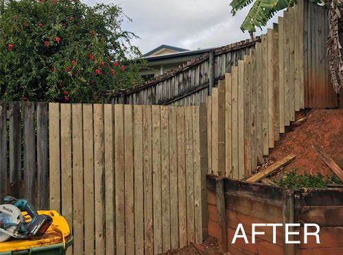 fencing repaired