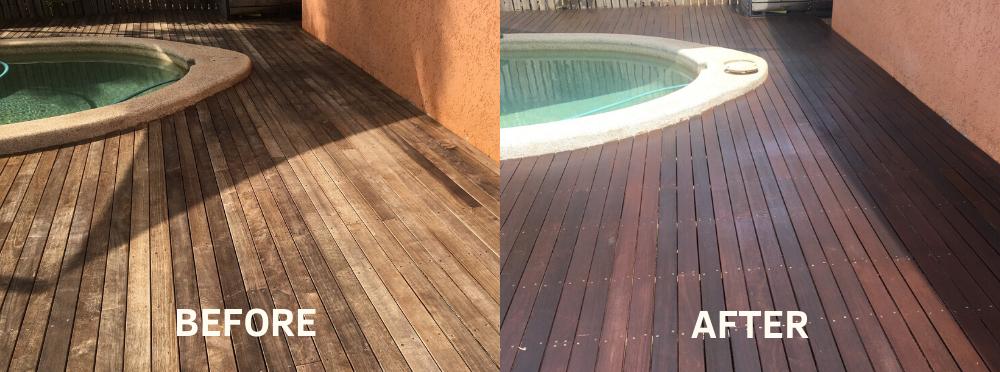 resurfaced pool deck in Cairns